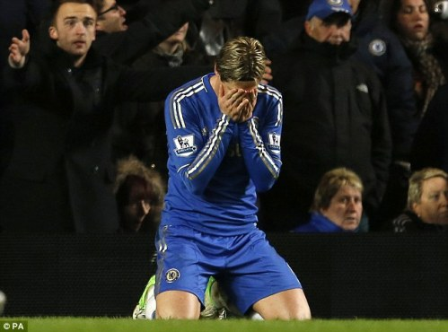 torres bury head in hands